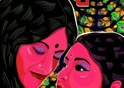 """Olokkhi: """"From my teenage years when I started learning what romance is and all, the only references were movies and drama where I could see every kind of relationship - except the one that I am looking for. Over the time when I was very clear about myself I learned that there is no reference for yourself, especially in our social context. That's when I felt there was a gap in this sector. Through my work all I want is to fill this gap, so that people like me can relate to them."""""""